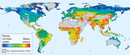 Global water availability, 'managed' condition